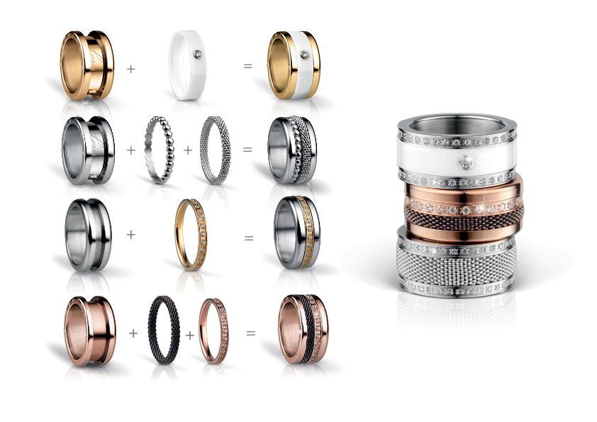 ad1ccf75194 Kolekce prstenů BERING Arctic Symphony   Corial - Hodinky a šperky ...
