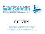 CITIZEN- sponzor Mistrovství Evropy v krasobruslení OSTRAVA 2017